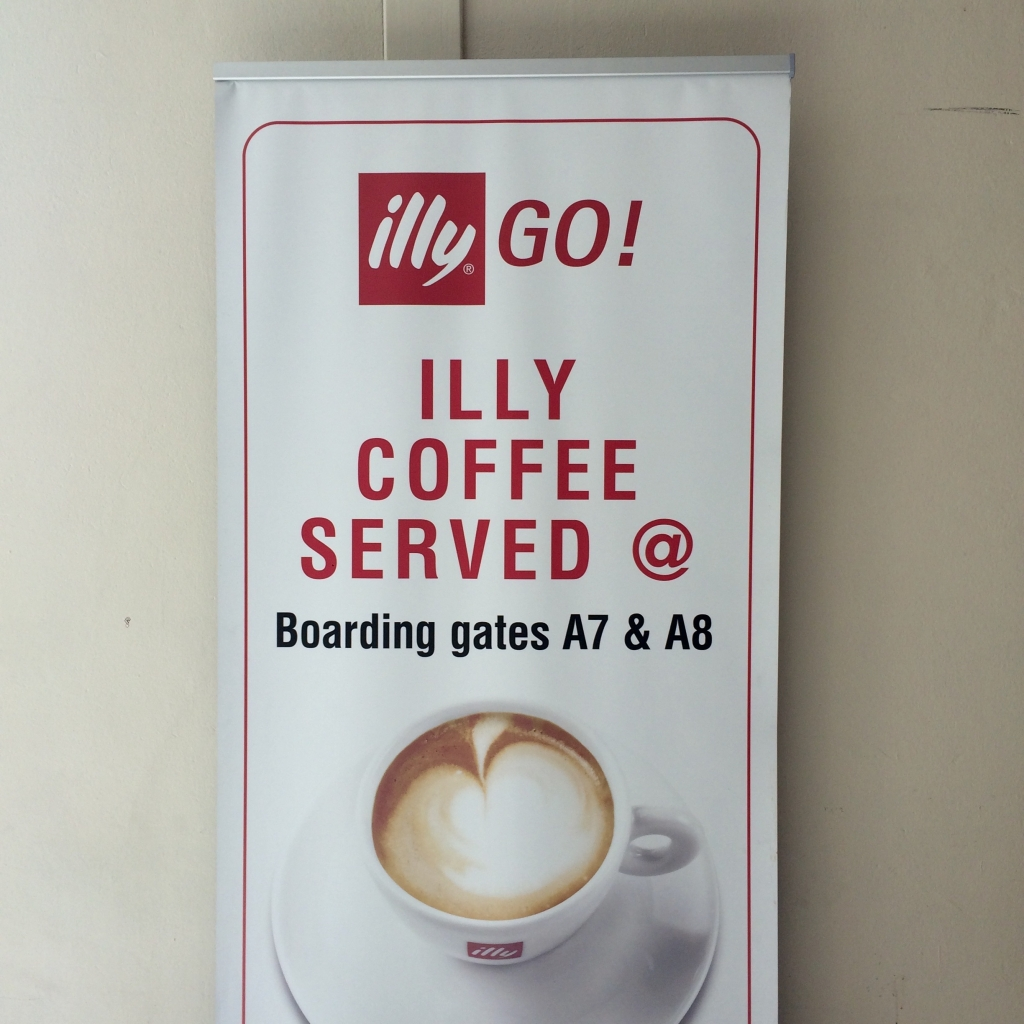 Airport illy sign